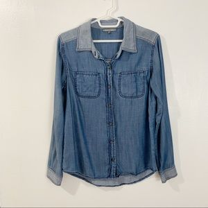 Michael Stars Chambray button down top
